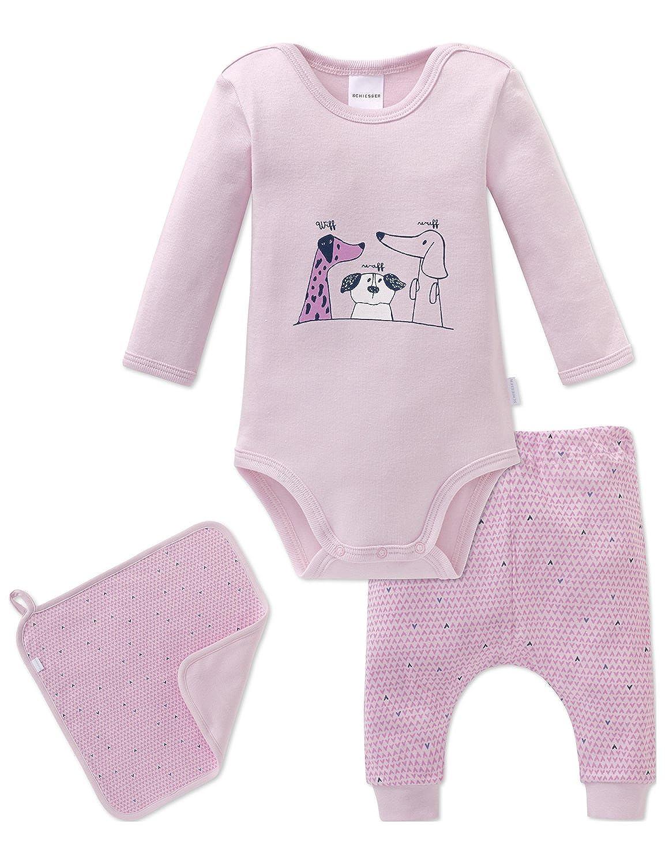 Schiesser Unterwäsche-Set Puppy Love Baby Mädchen, 3er Pack 163328