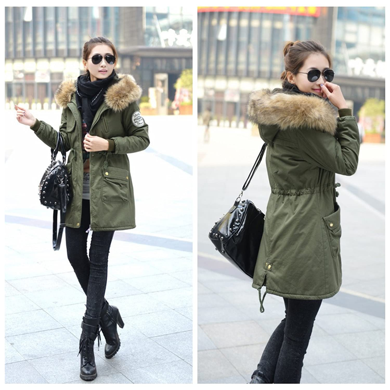 Manteau long femme avec capuche pas cher