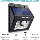 Mpow Solar Lights For Home, 8 LED Motion Sensor Street Lights With Upgraded Solar Panel, IP65 Waterproof Solar Powered Lamps For Security
