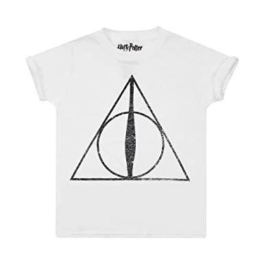 Harry Potter Girls Deathly Hallows Symbol T Shirt Amazon