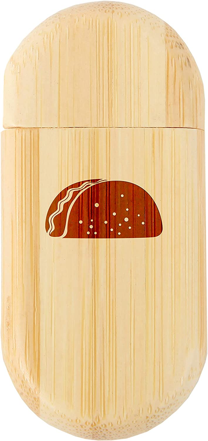 Taco 8Gb Bamboo USB Flash Drive with Rounded Corners Wood Flash Drive with Laser Engraving 8Gb USB Gift for All Occasions