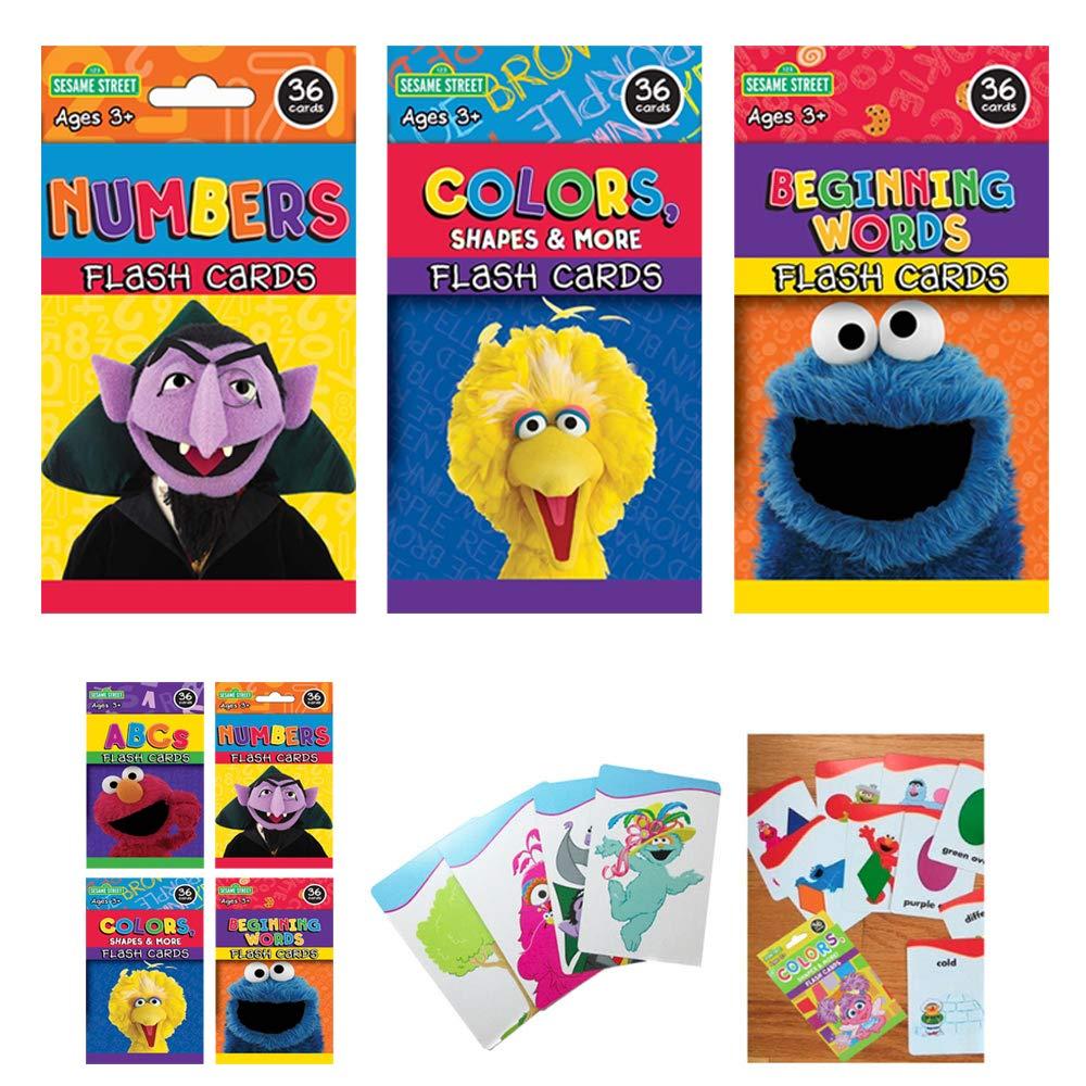3 Sesame Street Numbers単語フラッシュカードBeginning Alphabet ABC Learning Kid Fun   B01EJZJ3MW