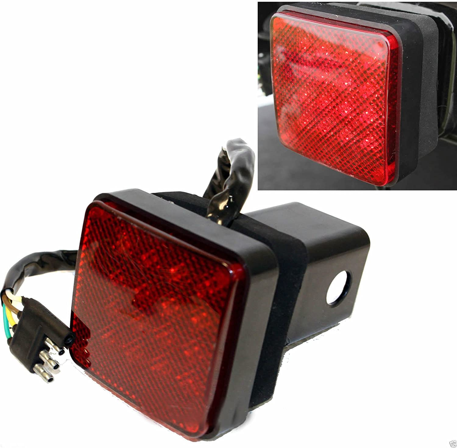 2/'/' Trailer Truck Hitch Towing Receiver Cover 15 LED Brake Light Cover W//