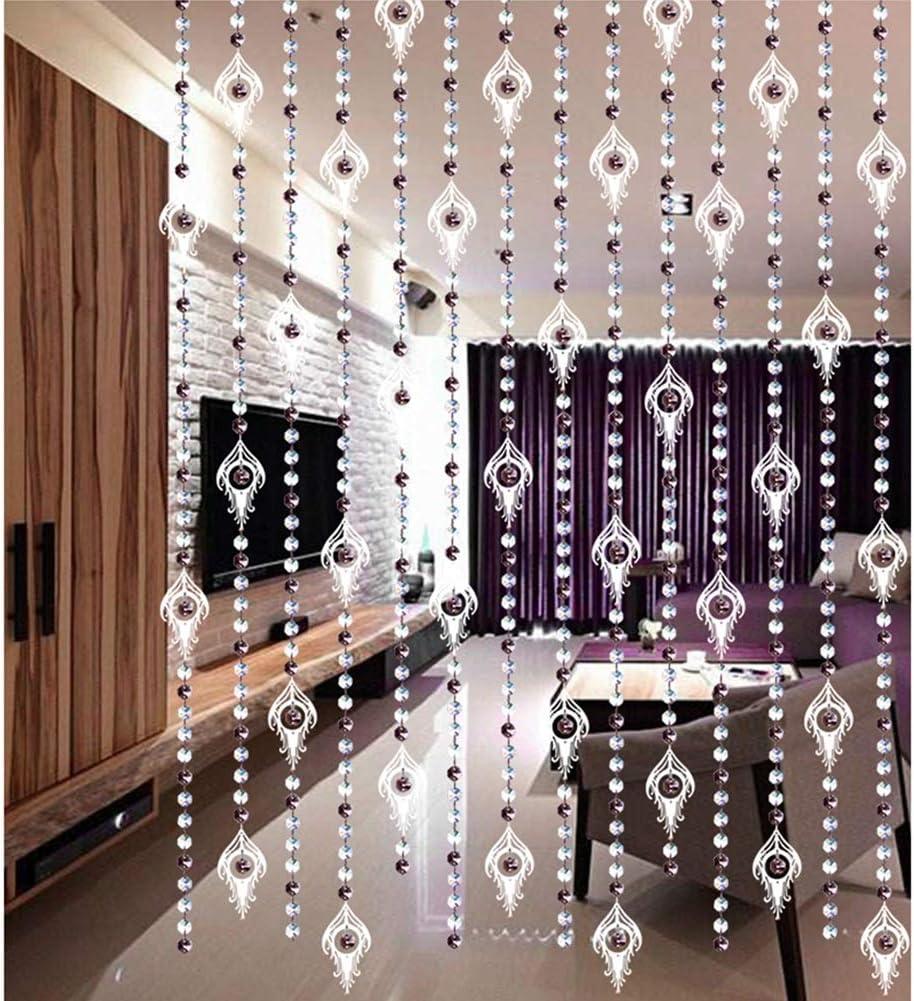 GuoWei-Cortinas de Cuentas Vaso Cristal Tabique Salón Dormitorio Armario Puerta Decoración Colgando Cuerdas, Personalizable (Color : B, Size : 30 strands-900cmx120cm): Amazon.es: Hogar