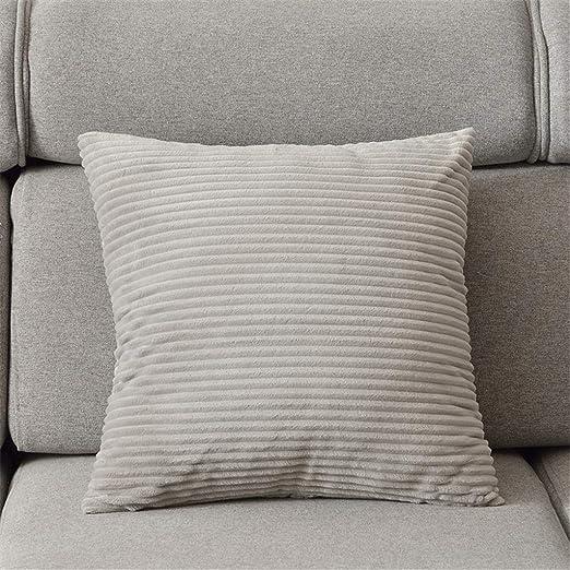 Almohada de Tiro | Almohada de Pana Cuadrada de 3 Colores 4 ...