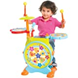 Best Choice Products Kids Electronic Drum Set with Adjustable Sing-Along Microphone & Stool
