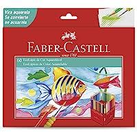 Lápis de Cor Aquarelável, Faber-Castell, EcoLápis, 120260G, 60 Cores