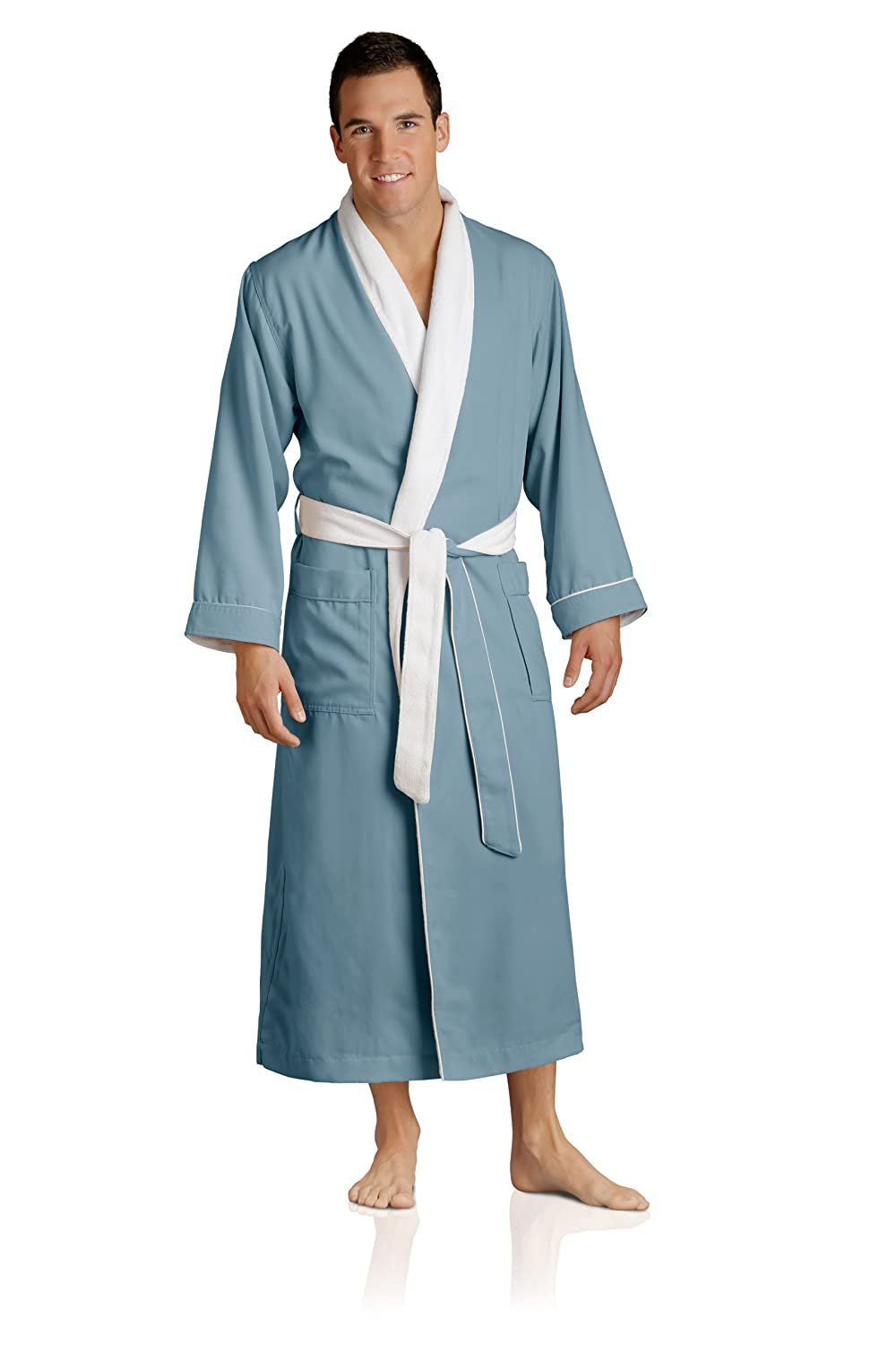 Luxury Spa Robe - Microfiber with Cotton Terry Lining at Amazon ...