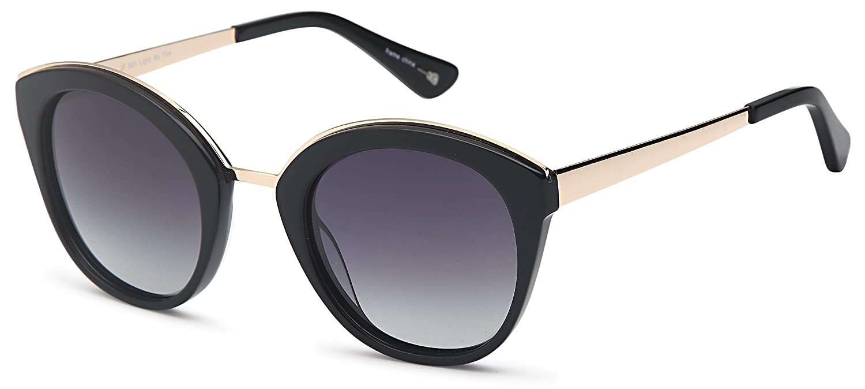 Amazon.com: Jose Feliciano Polarized Sunglasses For Women - Plastic Frame JF601 Black: Clothing