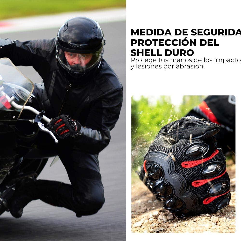 Guantes Moto Verano Hombre Mujer Transpirables Guantes Pantalla T/áctil de Moto Antideslizante Guantes para Moto con Protecci/ón Dedo Completo