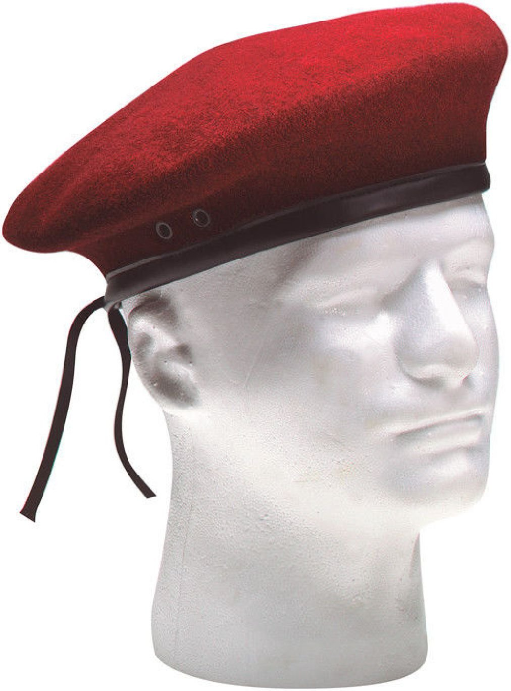 Classic Wool Military Beret with Eyelets Army Hat
