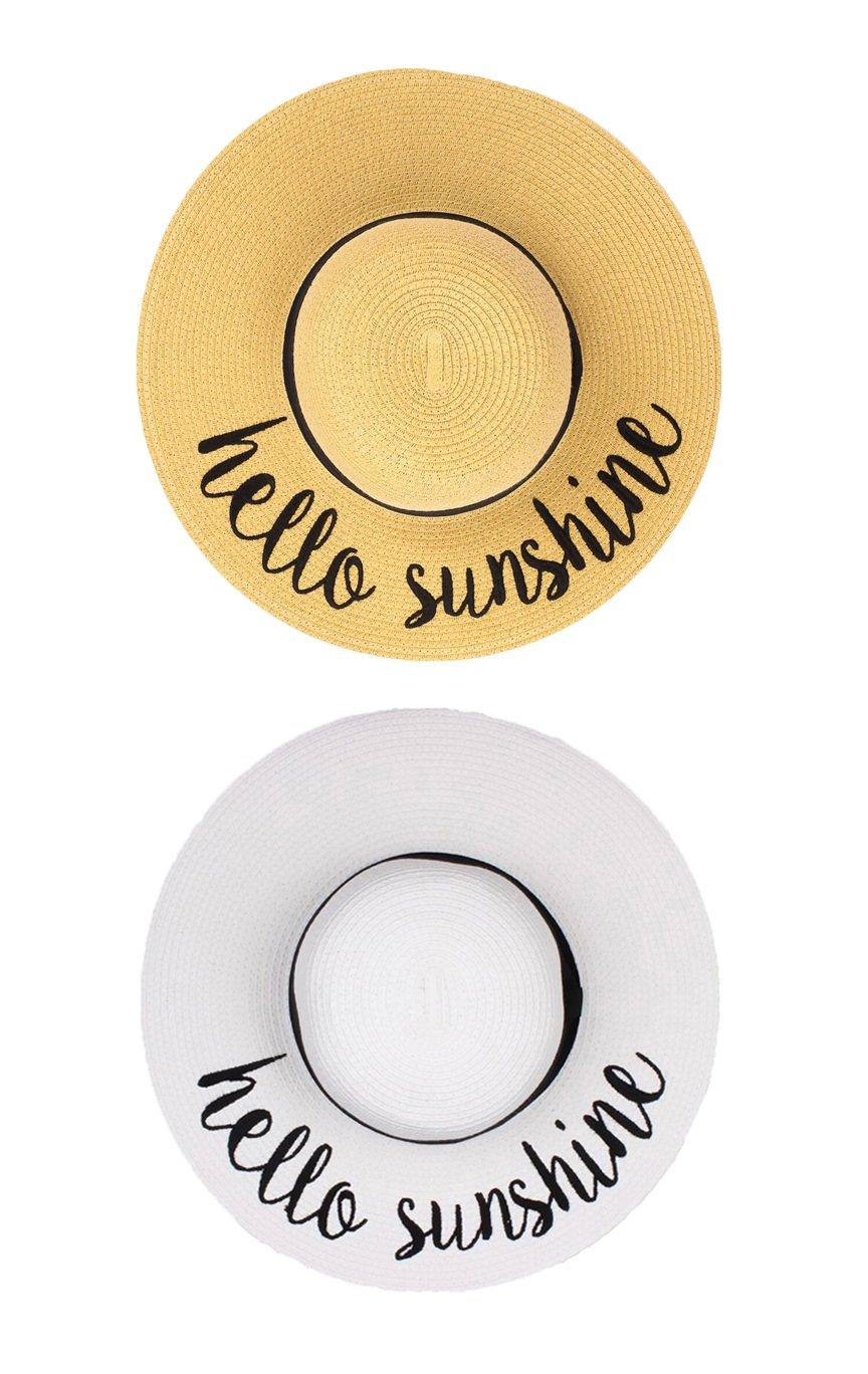 H-2017-2-HS-3209 Embroidered Sun Hat Bundle - Hello Sunshine