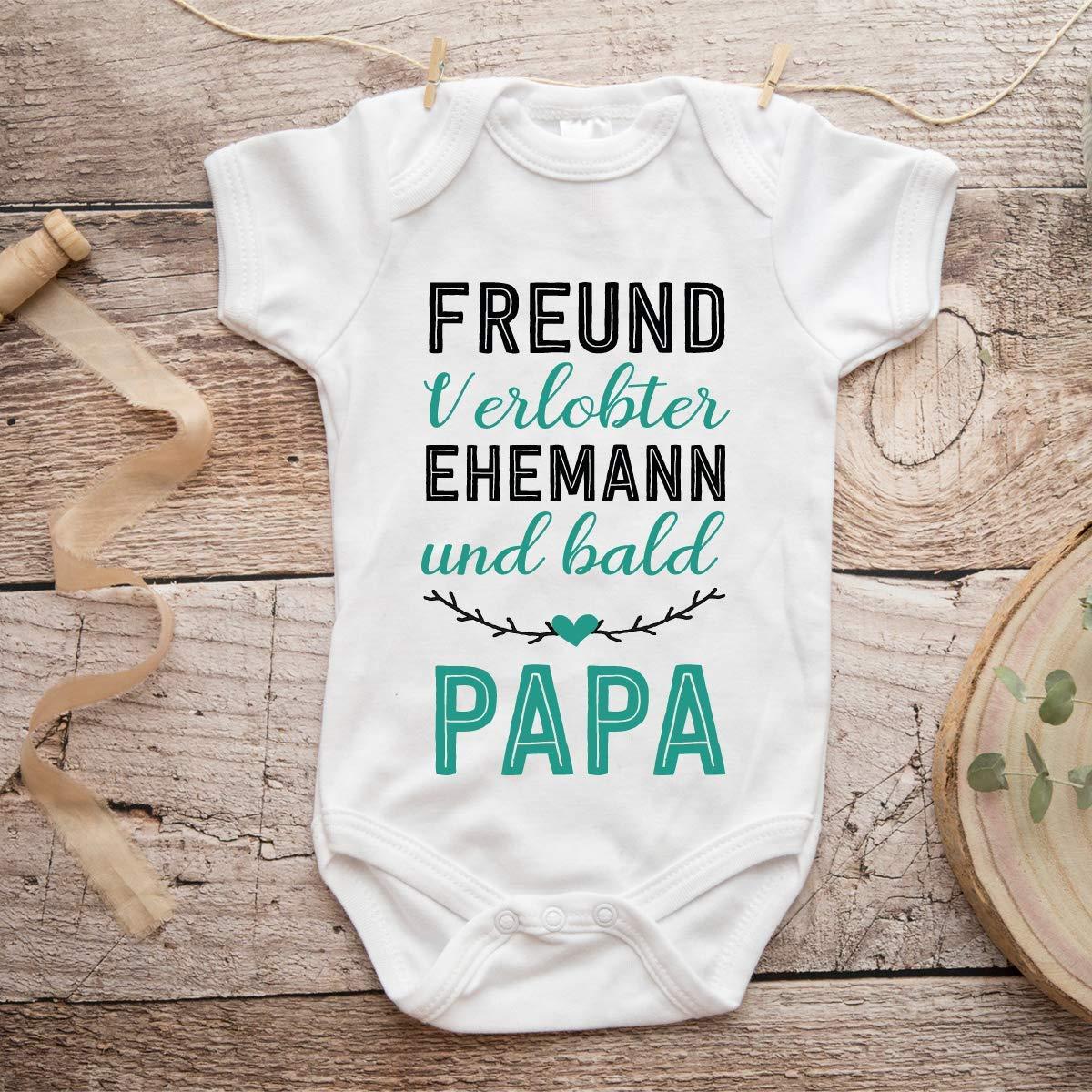 zur Verk/ündung der Schwangerschaft Geschenkidee Jungen M/ädchen kurzarm Body f/ür NeugeboreneDu wirst Papa Verlobten f/ür Freund Ehemann