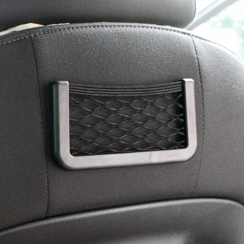 Schwarz 20 * 8 cm Brieftasche Stifte Telefon SUNJULY Autositz Netztasche Schl/üssel 2 St/ück Auto Kofferraum R/ücksitz Gep/äcknetz Net Taschen f/ür Handtasche
