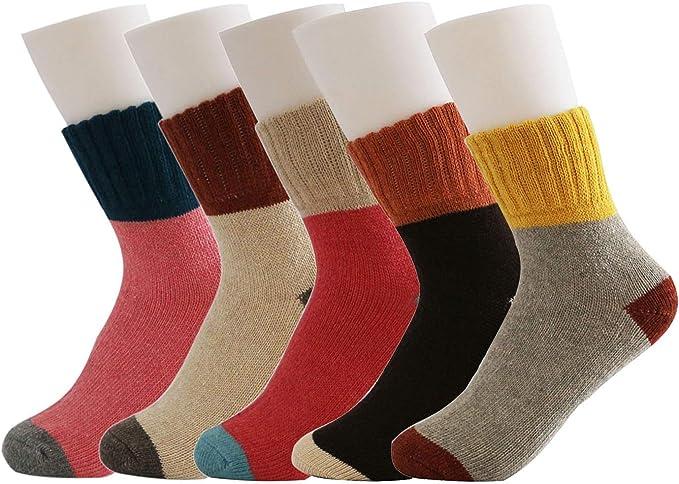 Vintage Style Knitting Women Thicken Wool Boot Socks Crew Socks Winter Warm