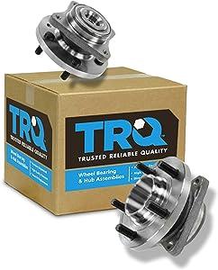 TRQ Front Wheel Hub & Bearing Pair Set for Land Rover LR3 LR4 Range Rover Sport