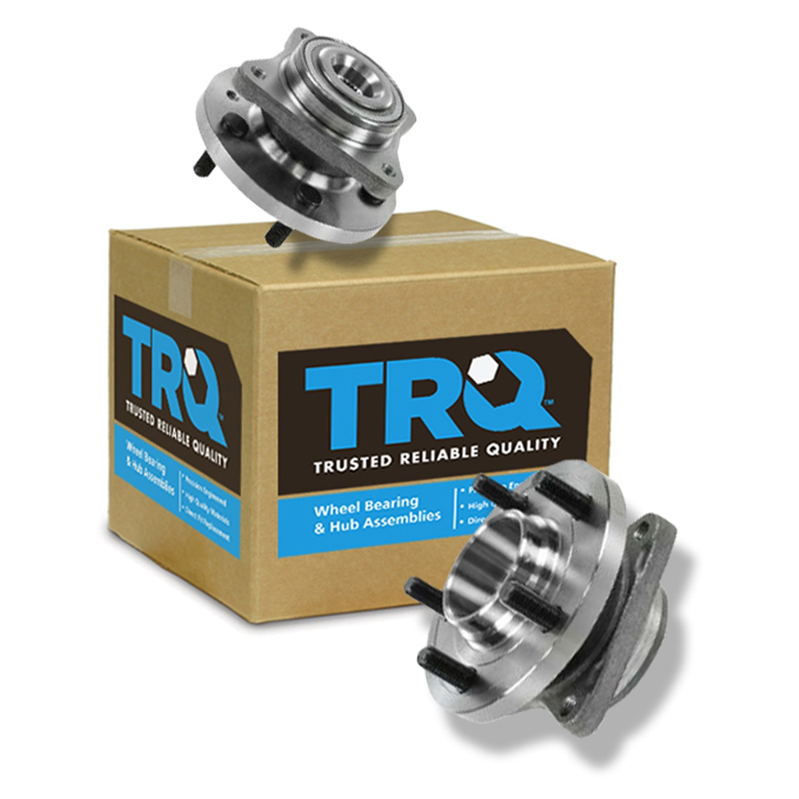 TRQ Front Wheel Hub & Bearing Assembly Pair Set for 04-09 Prius by TRQ