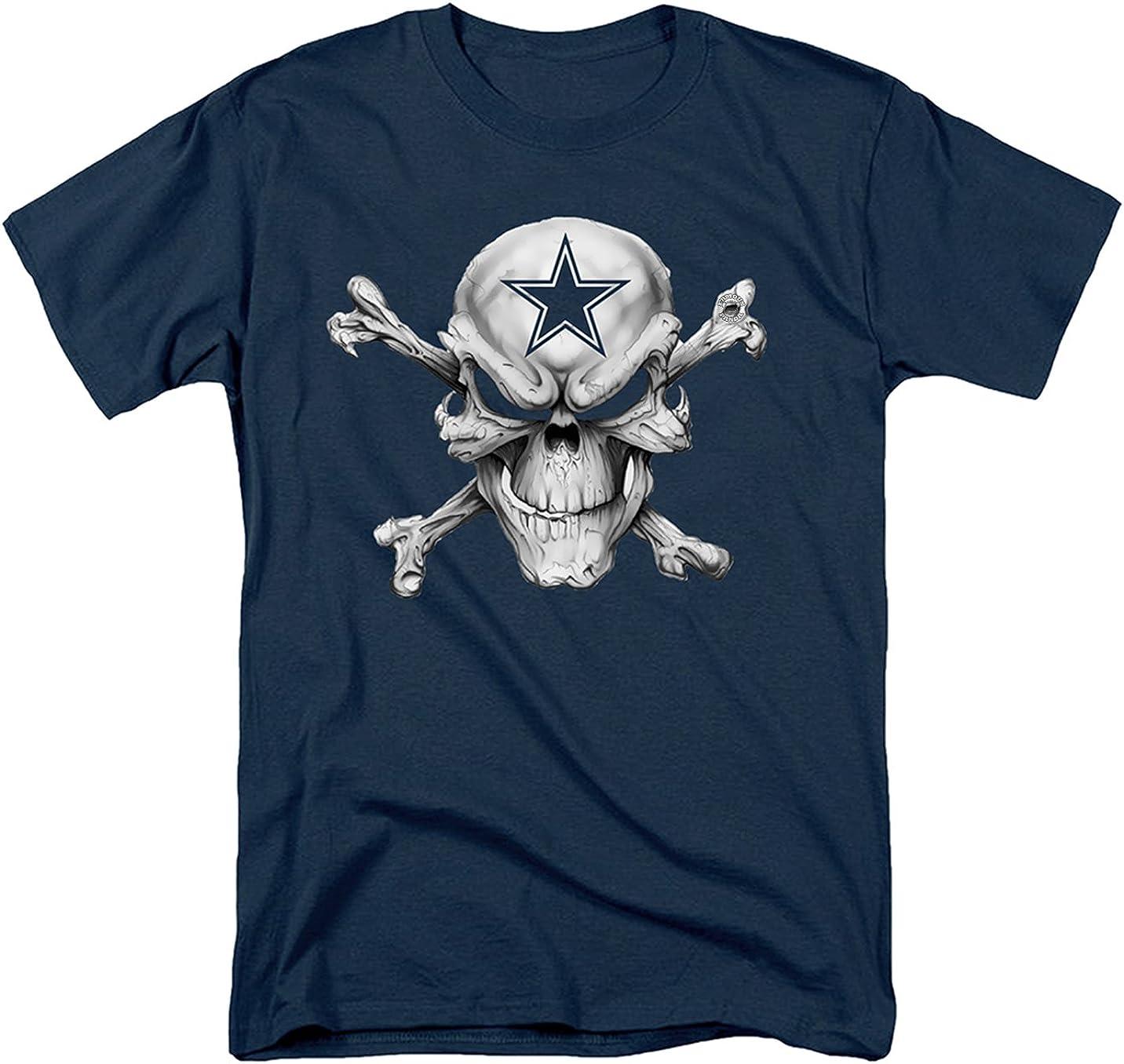 Famoso Panda Star de calavera Dallas Cowboys camiseta para hombre