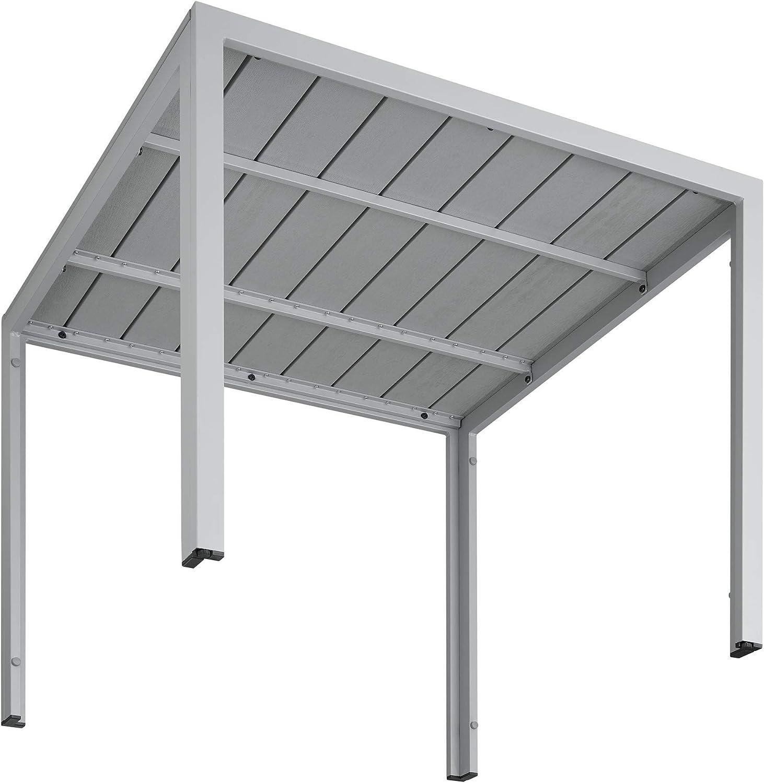 TecTake 800587 - Mesa de jardín Maren, Aluminio, Ligera, Estable ...