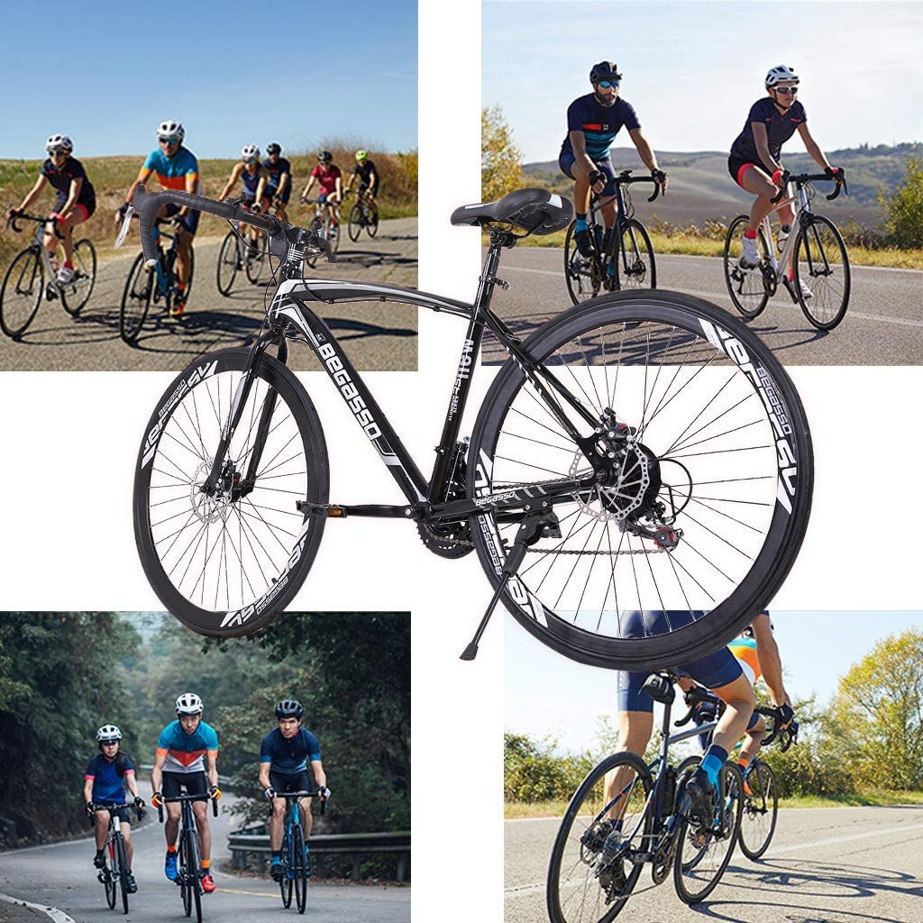 Road Bike Mountain Bicycle HAIWAI 2021 New Road Bike 700c Bicycle Cycling for Mens or Womens with 21 Speed Disc Brakes/&Full Suspension 【US Warehouse Shipment】