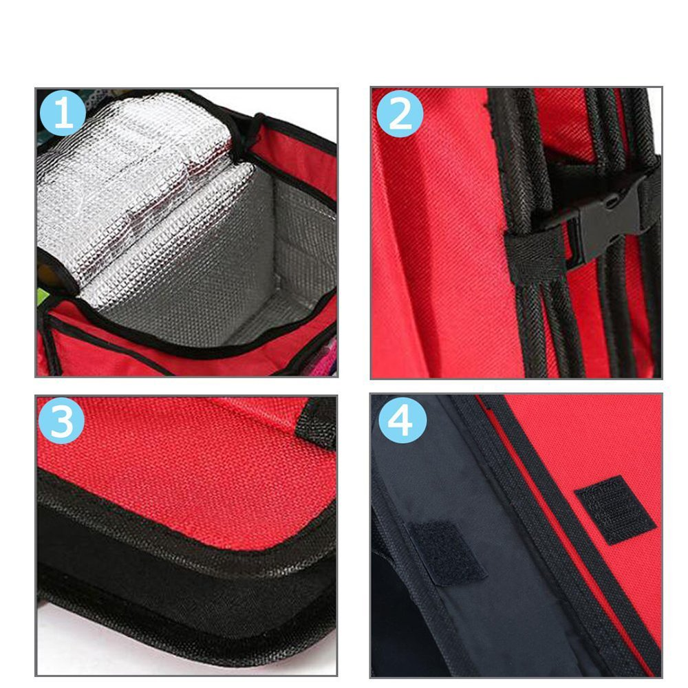 Rosso Pingxia Borse per Bagagliaio Auto Pieghevole Bagagliaio Organizer con Compartimenti di Isolamento per Shopping Viaggio Campeggio Piknik