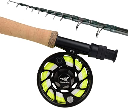 Amazon Com Kastking Ascension Soloscopic Fly Combos Combo 5 Wt 9ft Fly Rod 5 And 6 Reel Sports Outdoors