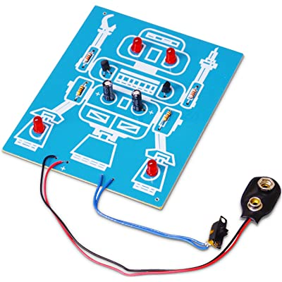 Elenco LED Robot Blinker Soldering Kit [ SOLDERING REQUIRED ]: Toys & Games