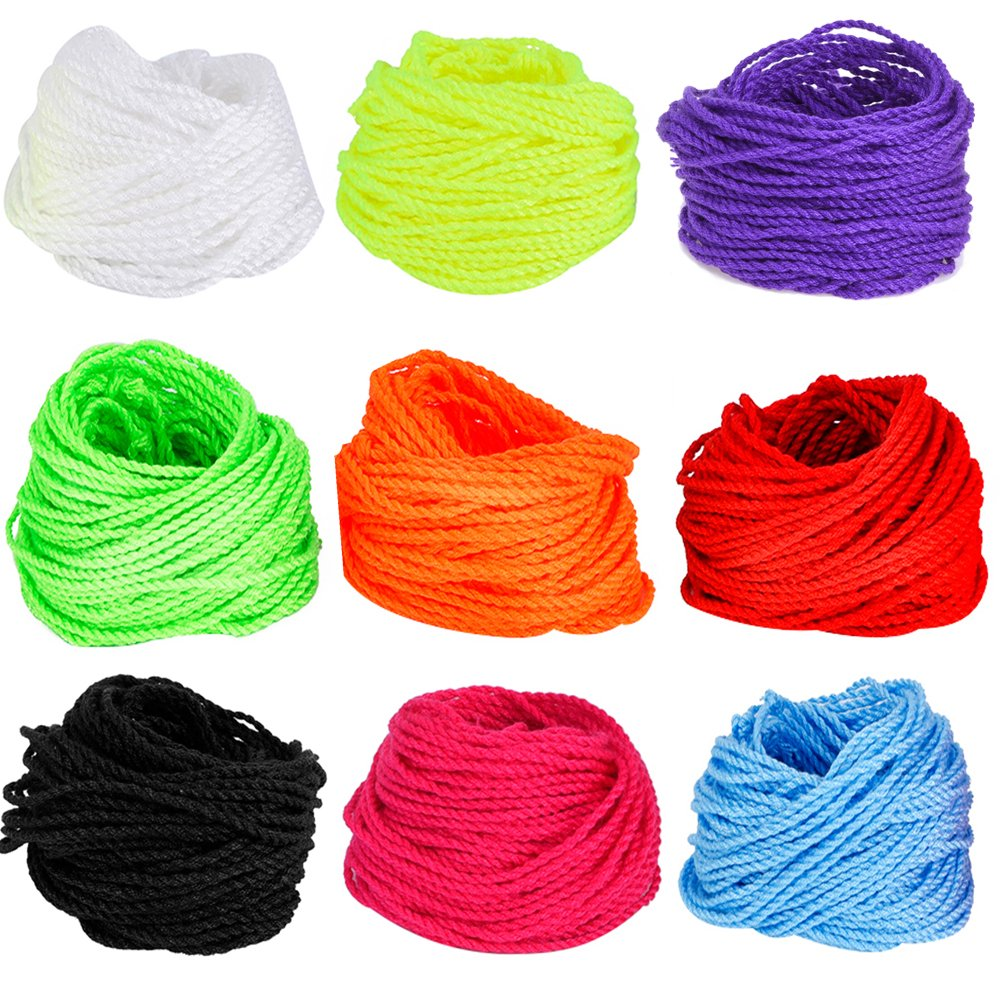 Amazon pro poly string ten 10 pack of 100 polyester yoyo blulu yoyo string multi color 90 pieces malvernweather Image collections