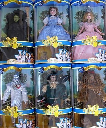 amazon com the wizard of oz porcelain 14 doll set w dorothy
