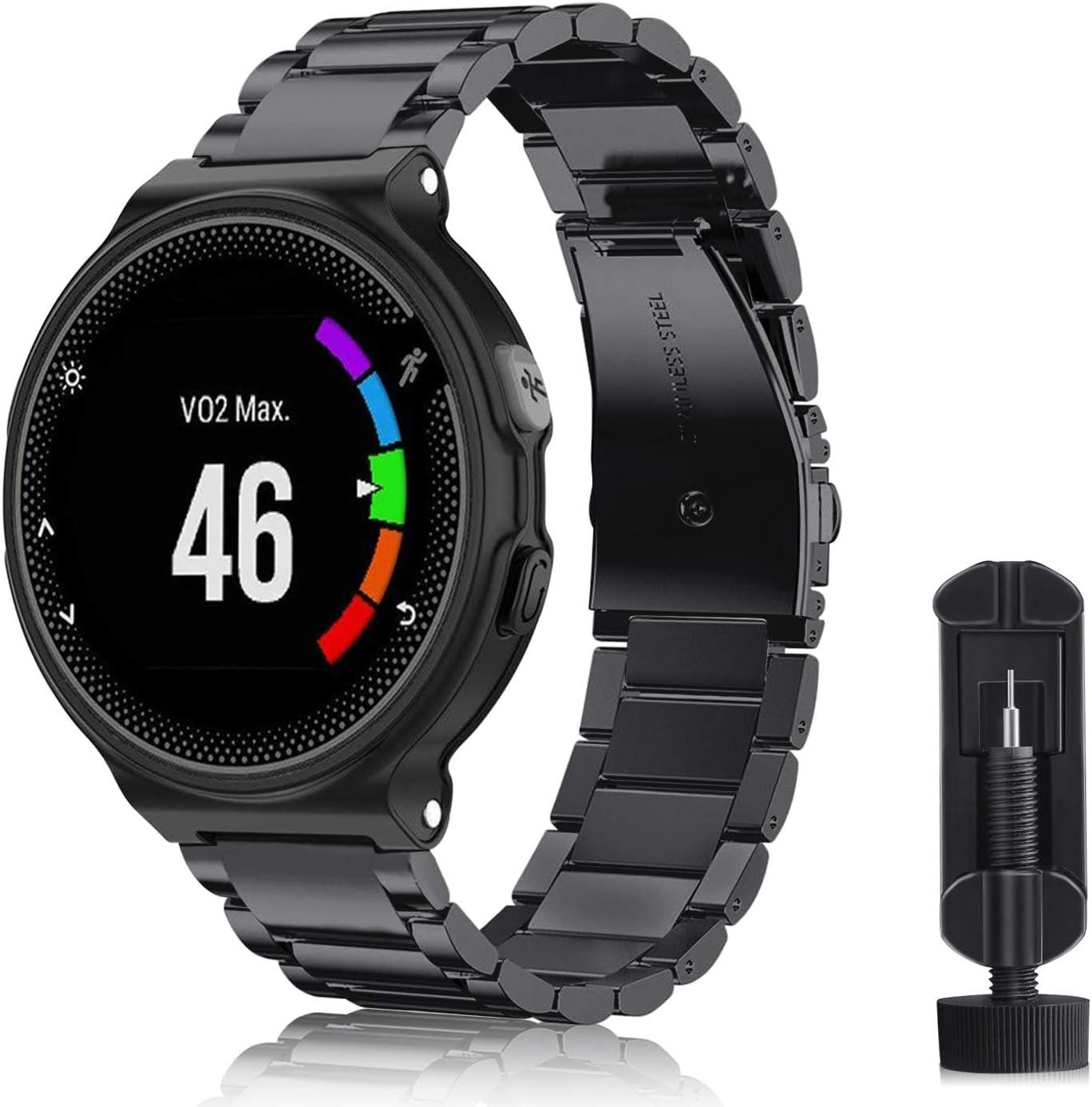 Keesin Bracelet de rechange en silicone pour montre de sport Garmin Forerunner 920XT avec vis dorigine et outil de d/ésassemblage
