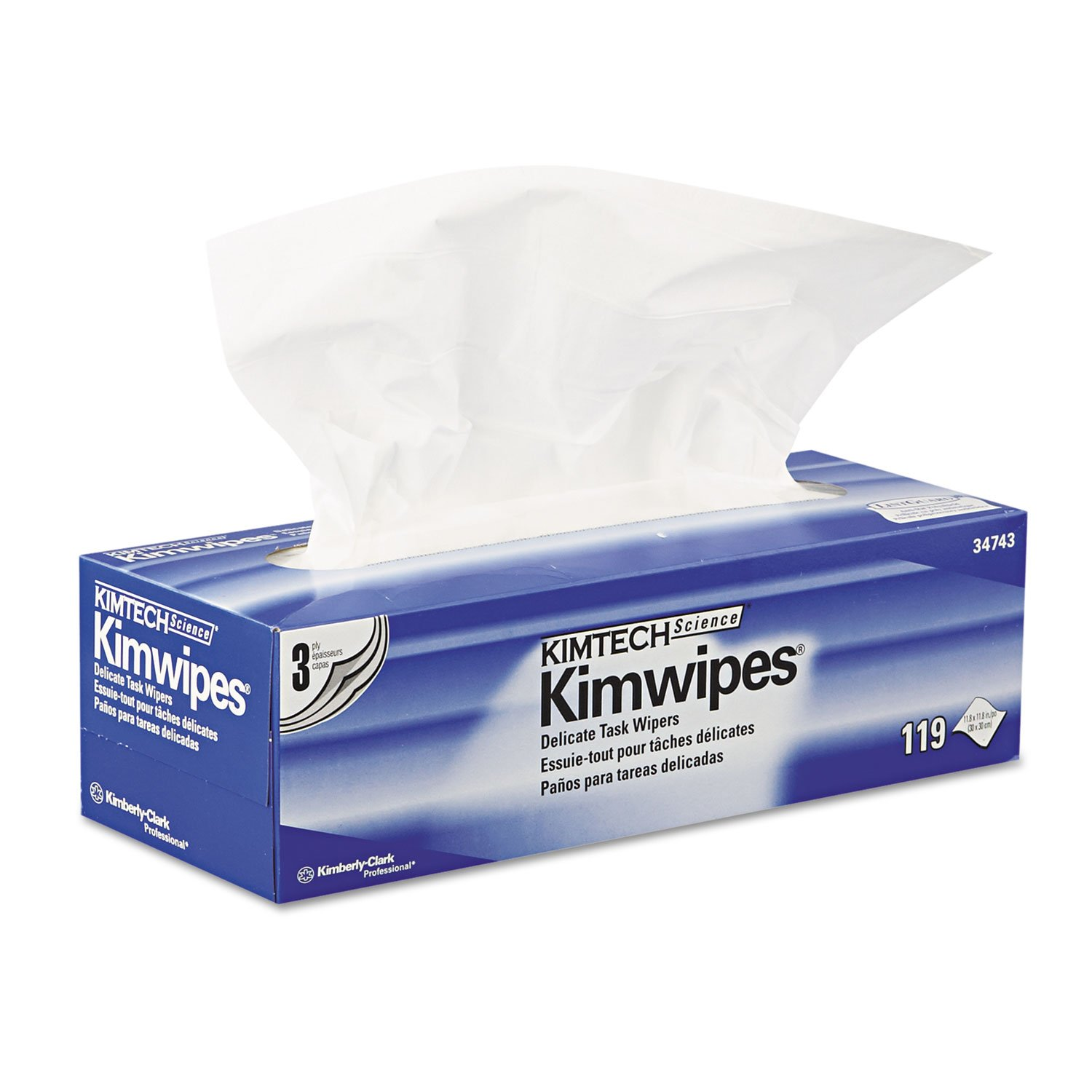 Kimberly Clark Safety 34743 White Kimwipes Delicate Task Wipers, 3-ply:  Amazon.com: Industrial & Scientific