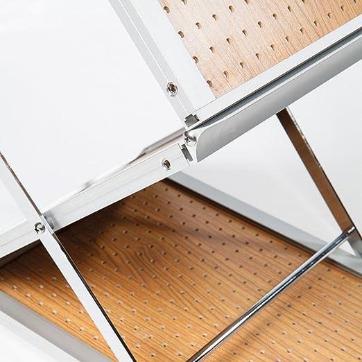 Expositor de folletos plegable A4 Alto - Exhibidor plegable con maletín como soporte, Flyer Catálogo Soporte, soporte de suelo, atril - PREMIUM CALIDAD, ...