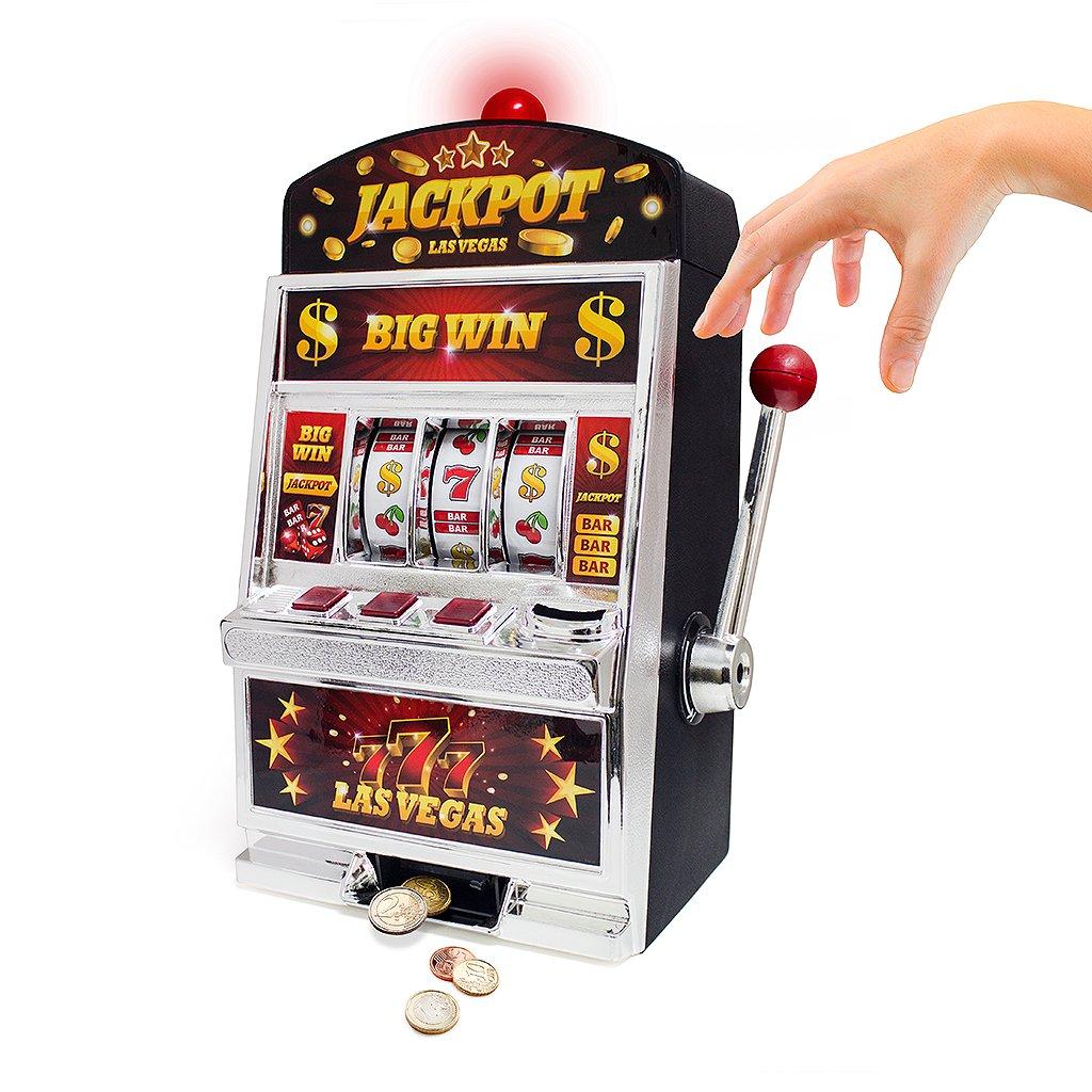 Balvi Juego Las Vegas Máquina tragaperras Doble función: Juego de Azar y Hucha Pilas:2xAA no Incluidas Plástico 37cm: Amazon.es: Juguetes y juegos