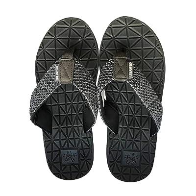 URBANFIND Men's Comfortable Flip Flops Beach Sandals Shower Thong Slippers Athletic Arch Support Grey, 13 D(M) US   Sandals
