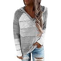 Voqeen Chaqueta Suéter Jersey de Punto con Capucha para Mujer Otoño Invierno Talla Grande Hoodie Holgado Informal de…