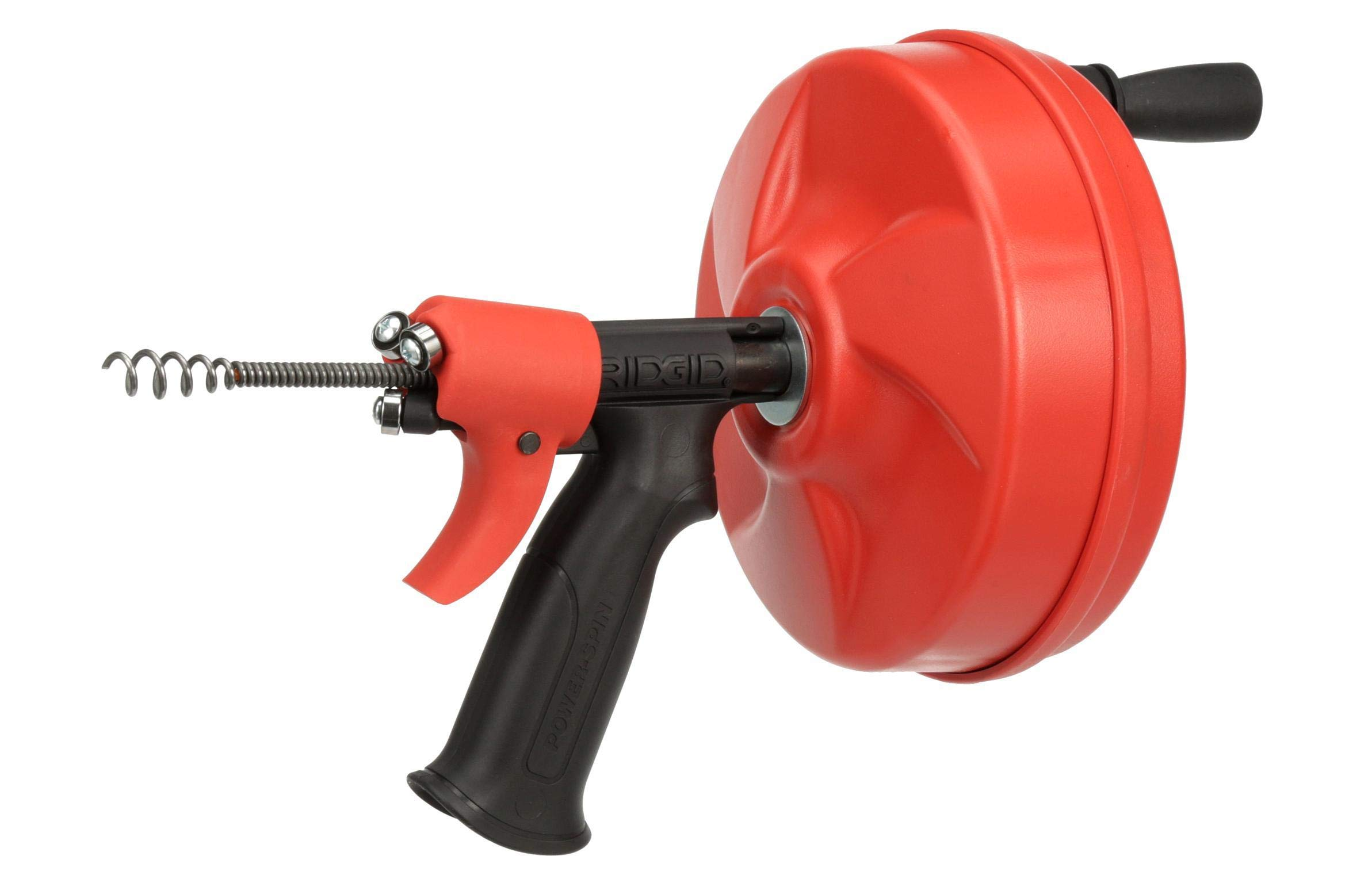 Ridgid GIDDS-813340 41408 Power Spin with AUTOFEED, Maxcore Drain Cleaner Cable, and Bulb Drain Auger to Remove Drain Clogs by Ridgid