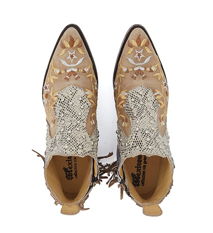 Buy Cheap Shop For Mexicana Corus leather ankle boots with fringes and floral embroid women's Low Ankle Boots in Cheap 100% Authentic Cheap Low Shipping Fee Low Shipping Fee Online Discount Prices Fwk1vNB