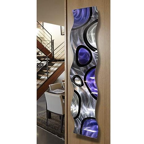 Statements2000 3D Metal Wall Art Modern Gold Purple Accent Decor by Jon Allen