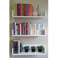 Trio Prateleiras Decorativas Livros Infantil U 60 L X 11,5 A X 20 P