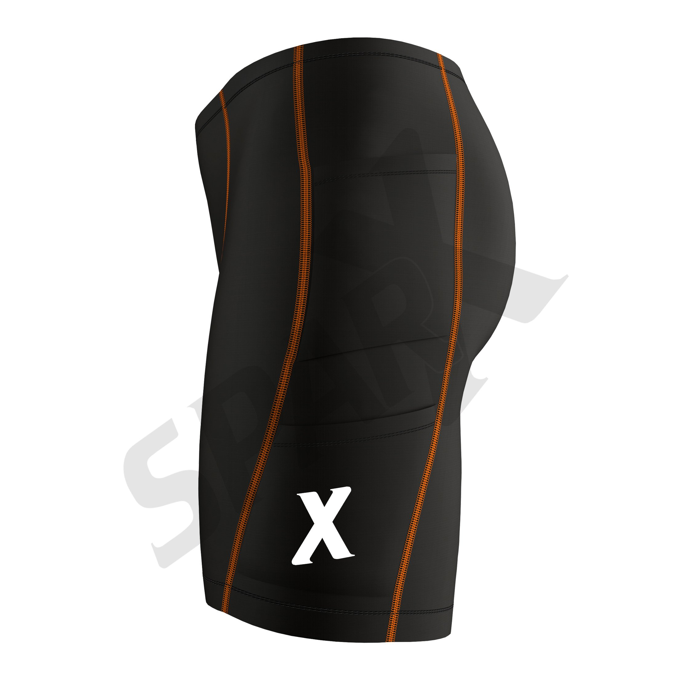Sparx Energy Compression Triathlon Short Tri Cycling Short Bike Swim Run 7060 (medium, Orange) by Sparx Sports (Image #4)