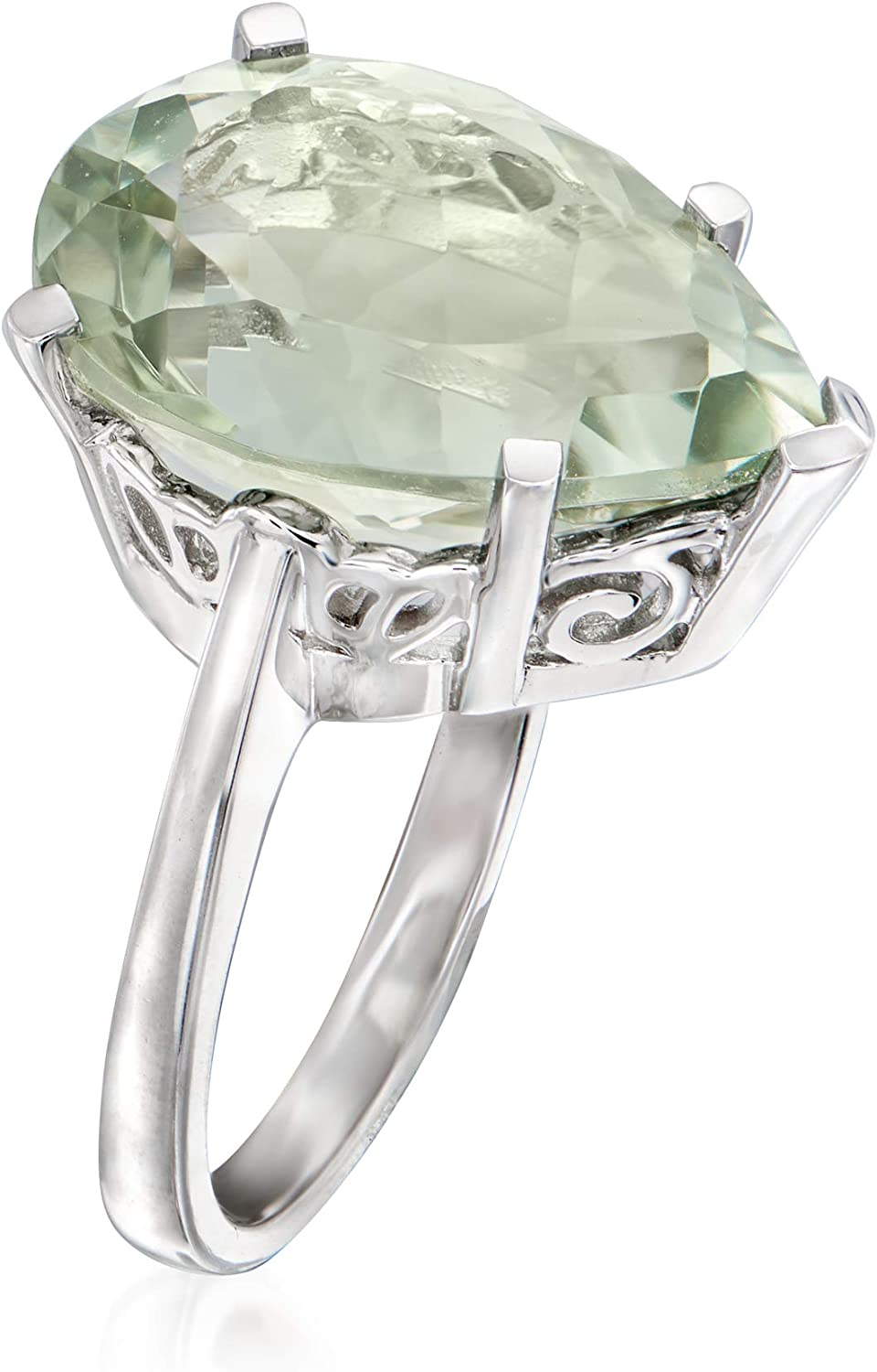 """Details about  /8.75 Carat 14K Solid White Gold Prove The Rule Green Amethyst Necklace 14/""""-24/"""""""