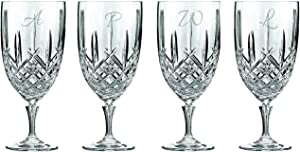 Waterford Marquis Markham 17oz Iced Beverage Glasses, Set of 4, Custom Glasses, Engraved Glass Set, Personalized Glassware