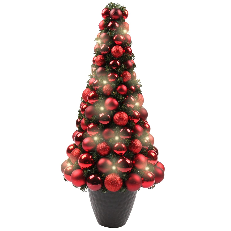 Weihnachtsbaum Künstlich 80 Cm.Möbelcreative Led Weihnachtsbaum Beleuchteter Tannenbaum In Rot