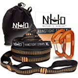 Nature's Hangout XL Hammock Straps - 14 feet (28 ft, 48 Loops Total). Longest, Strongest & Most Versatile. Quick Easy…