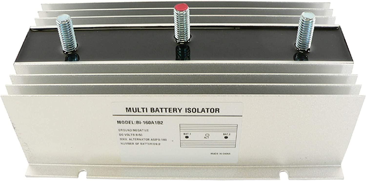 Stereo Marine DB Electrical BSL0012 Multi 2 Battery Isolator 140 Amp With Exciter for EMS