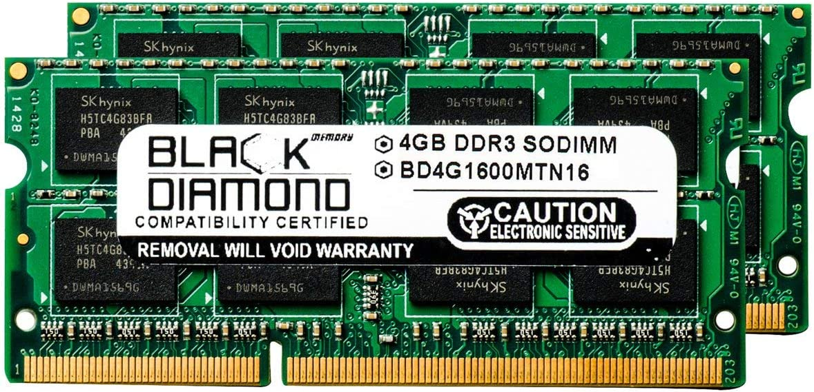 8GB 2X4GB RAM Memory for Acer Aspire One 756-2623 Black Diamond Memory Module DDR3 SO-DIMM 204pin PC3-12800 1600MHz Upgrade
