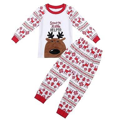 444efe4717d5e YiZYiF Enfant Garçon Fille Déguisement Père Noël Ensemble Pyjama Noël  Tee-Shirt Haut à Rennes