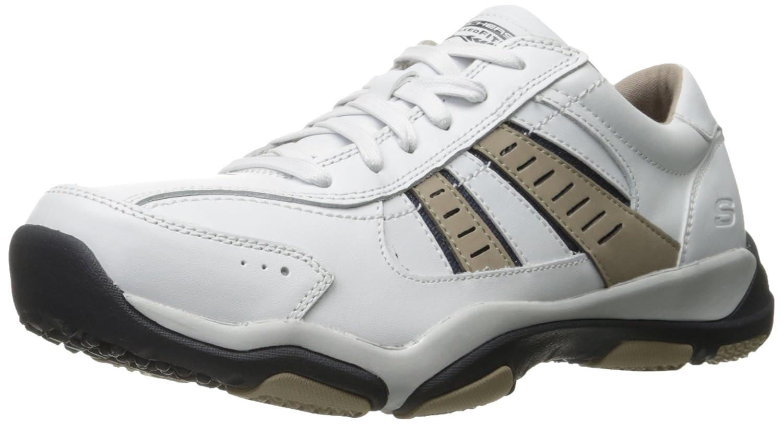 Skechers Larson-Nerick, Zapatillas para Hombre 39.5 EU Blanco/Negro