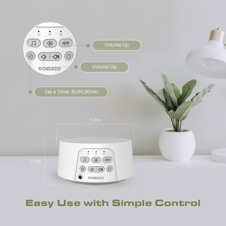 Amazon.com: IDONDRDO Máquina de ruido blanca – Terapia de ...