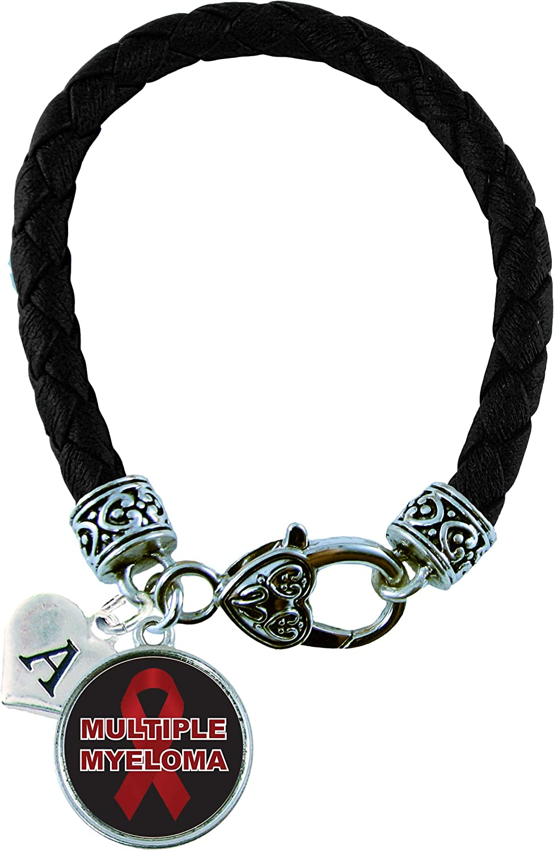 Multiple Myeloma Awareness Charm Bangle Bracelet